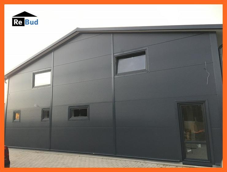 Bild 3: Stahlhalle Werkstatthalle Gewerbehalle Mehrzweckhalle mit Beurobereich 26m x 12m