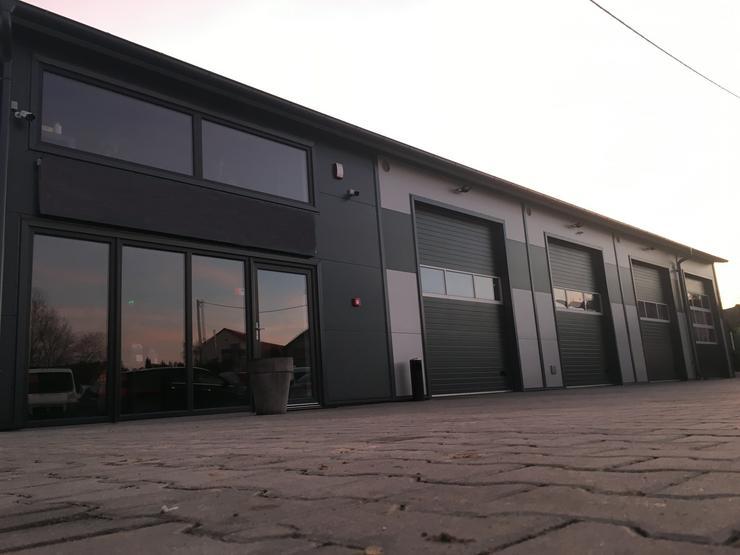 Stahlhalle Werkstatthalle Gewerbehalle Mehrzweckhalle mit Beurobereich 26m x 12m