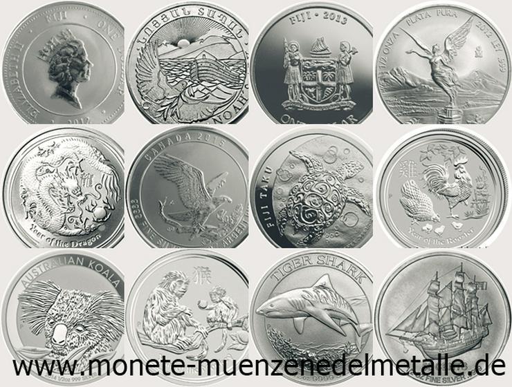 Set 12 X 1/2 Unze Silber Münzen Div.Motiv Div.Jahrgang