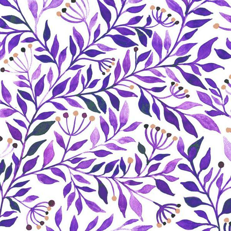 ppd Papierservietten Botanicals purple