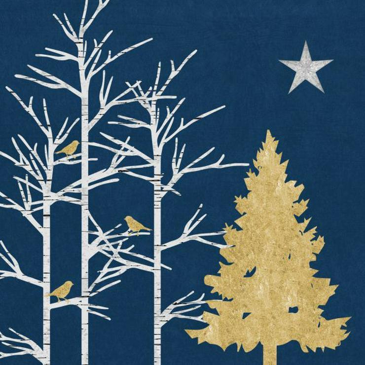 ppd Papierservietten Mystic Tree dark blue