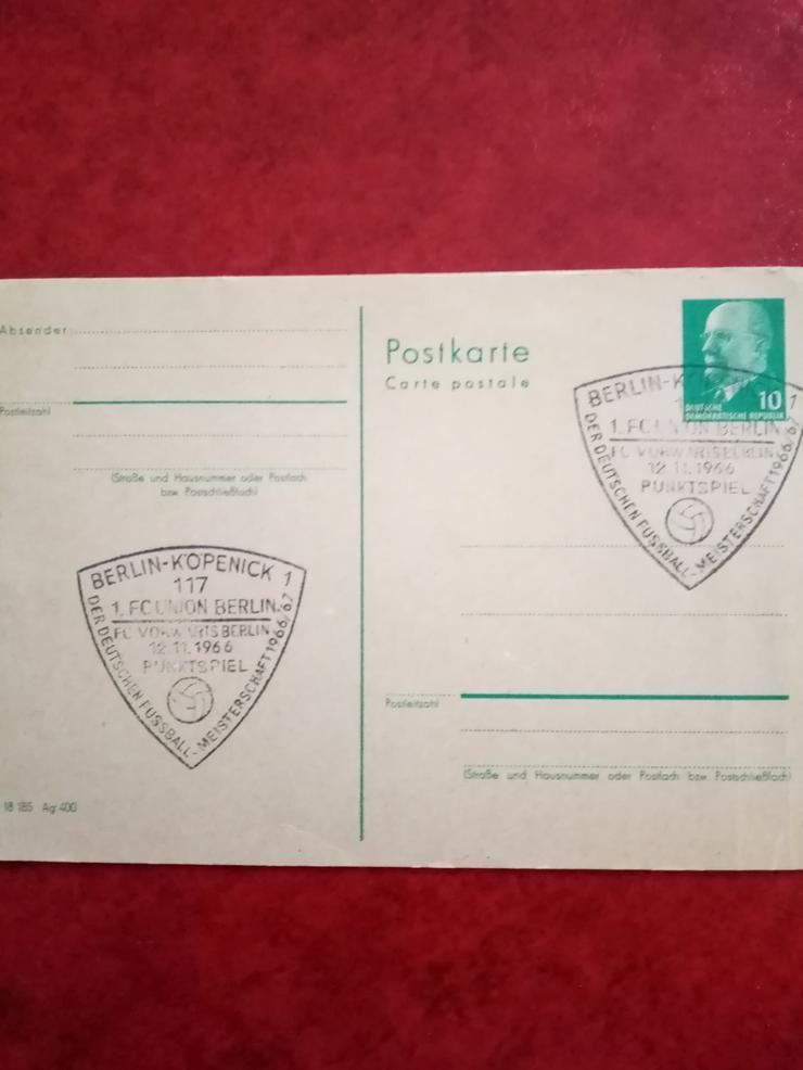 Aufgepaßt an alle 1.FC Unionfans,die Eventuell auch Briefmarken sammeln