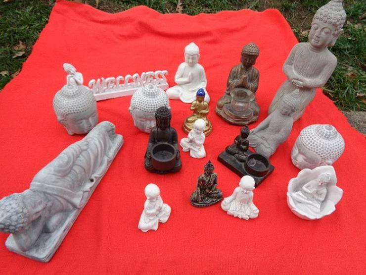 Buddha Figuren Sammlung Stein, Keramik, Porzellan, Metall