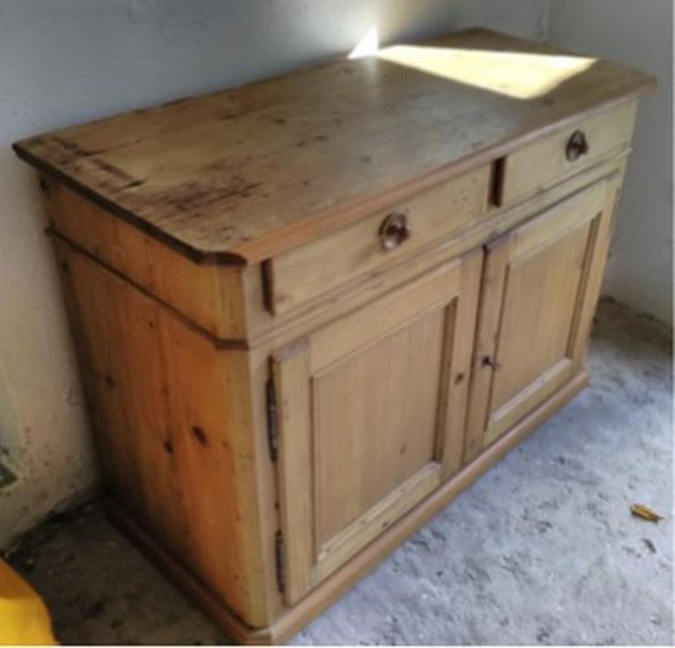 Bauernküchenschrank antik, 2-teilig