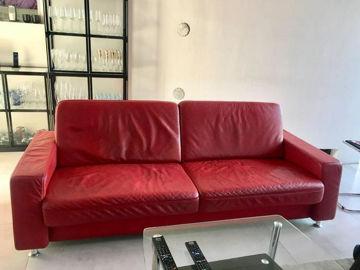 2 elegante, hochwertige Echtledersofas - Sofas & Sitzmöbel - Bild 1