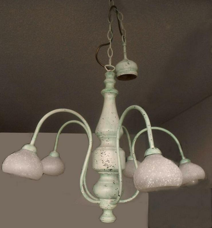 Landhaus, Hänge-Lampe, Hänge-Leuchte, E14-LED Handgefertigt