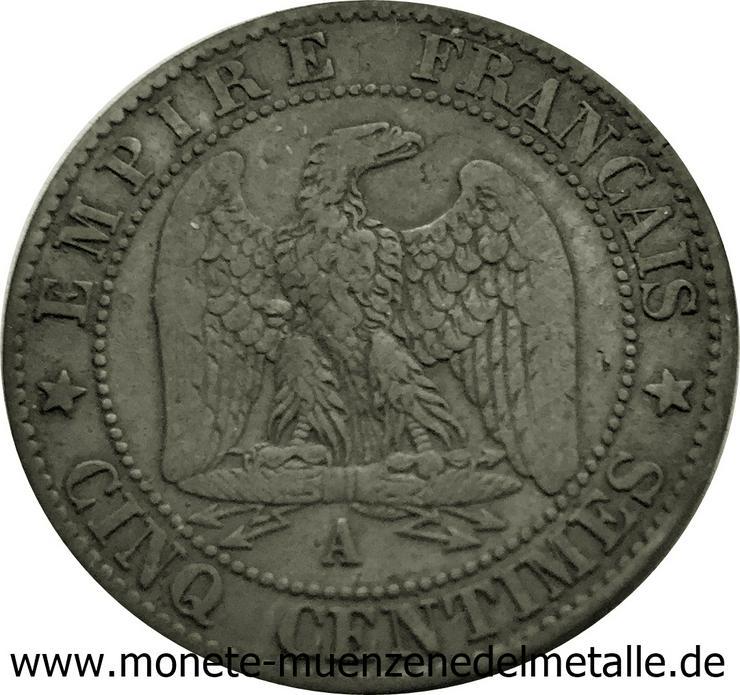 Frankreich 5 Centimes Napoleon III 1852