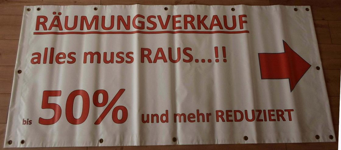 Bild 2: Werbebanner Plane Plakat Poster Banner Räumungsverkauf