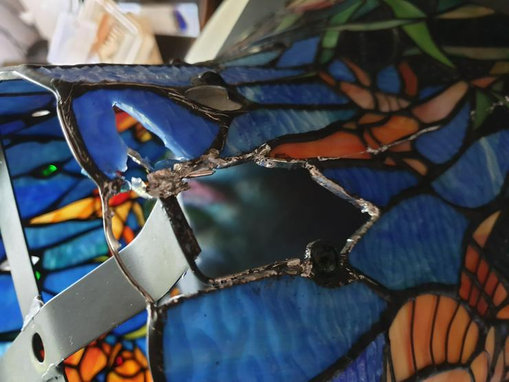 Bild 4: die GLASKUNST WERKSTATT seit 1984 repariert Tiffany Lampen & Tiffany Art & Fensterbilder & Bleiverglasung