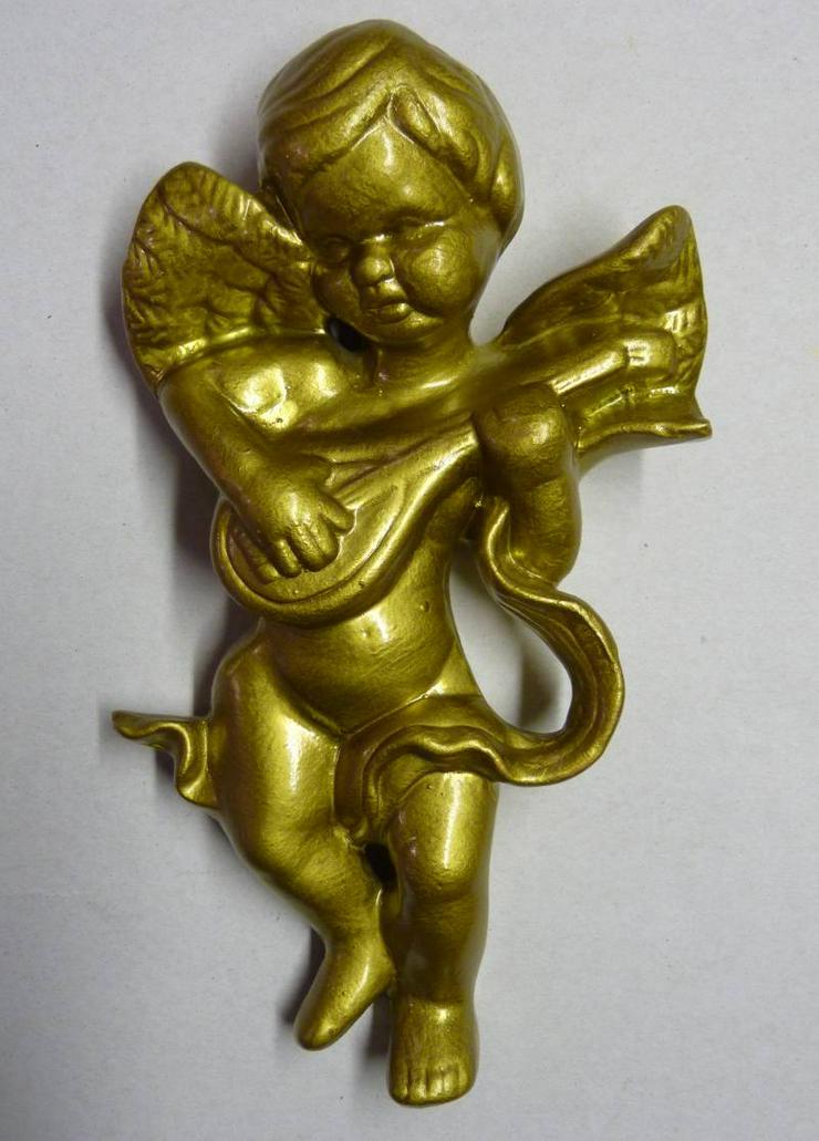 Büste Engel mit Laute, Keramik