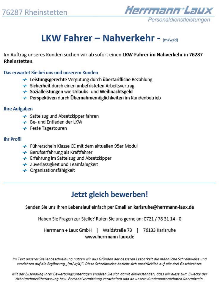 LKW Fahrer – Nahverkehr - (m/w/d)