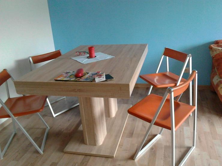 Verkaufe 5 orangefarbene Klappstühle von Interlübke. - Stühle - Bild 1