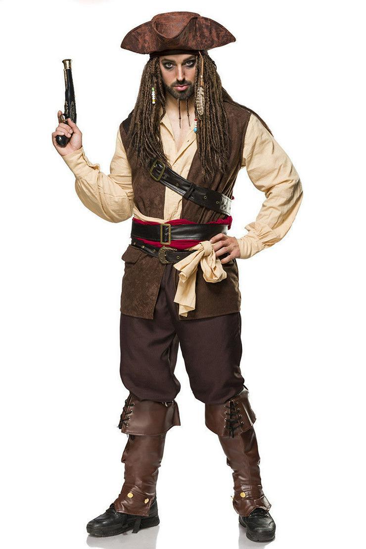Piratenkostüm Captain Jack Seeräuberkostüm Karnevalskostüm Kostümset