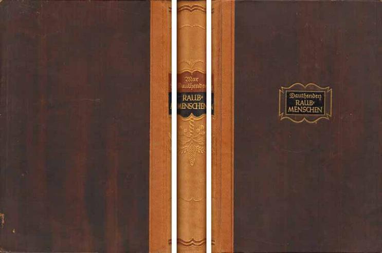Buch von Max Dauthendey - Raubmenschen - ein Roman - 1911