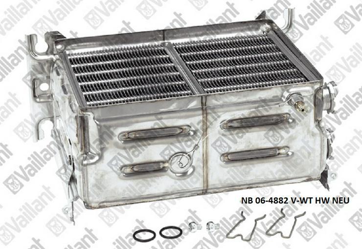 Vaillant Wärmetauscher HW, 06-4882, VC/VCW 254 XE; 254/2 X E, NEU 064882 NEU OVP