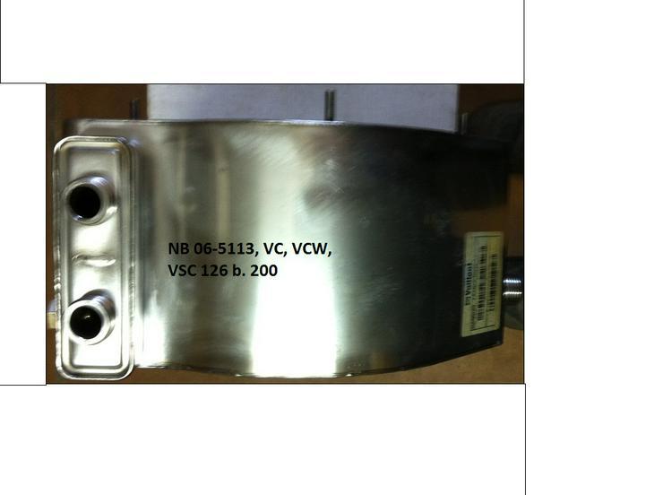 Bild 6: Vaillant Wärmetauscher HW 06-5113, VC 126 + 196 E-C./2-C; VCW 196 E-C /2-C; VSC Regeneriert