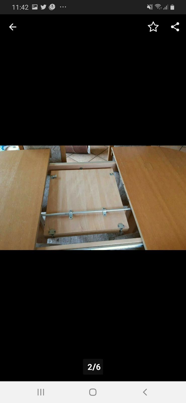 Bild 2: Esstisch ausziehbar mit 4 Stühlen Eiche Natur