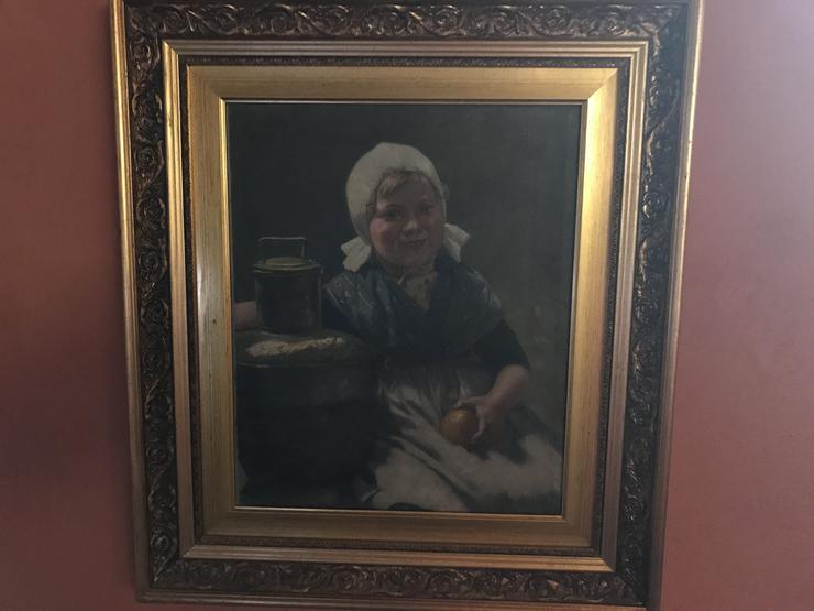 Milchmädchen Holland.kierberg - Gemälde & Zeichnungen - Bild 1