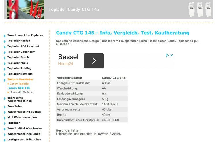 Candy - Waschmaschine