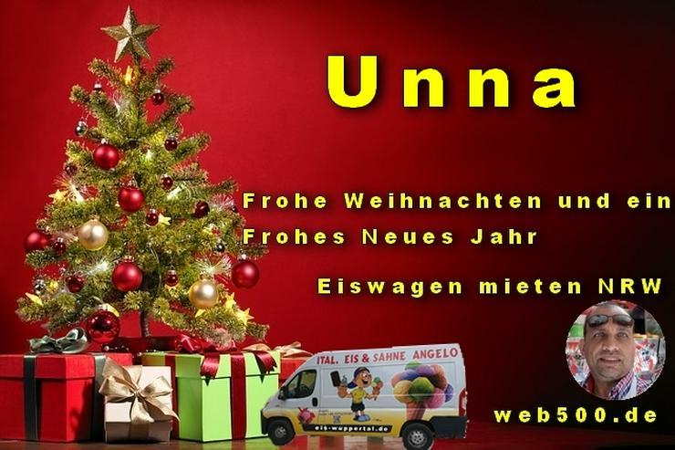 🔴 Unna 🔴 Eiswagen mieten wünscht 🎄 Frohe Weihnachten Advent Weihnachtszeit schöne 🍸 Silvester 🍸 und ein gutes Neues Jahr 🍸