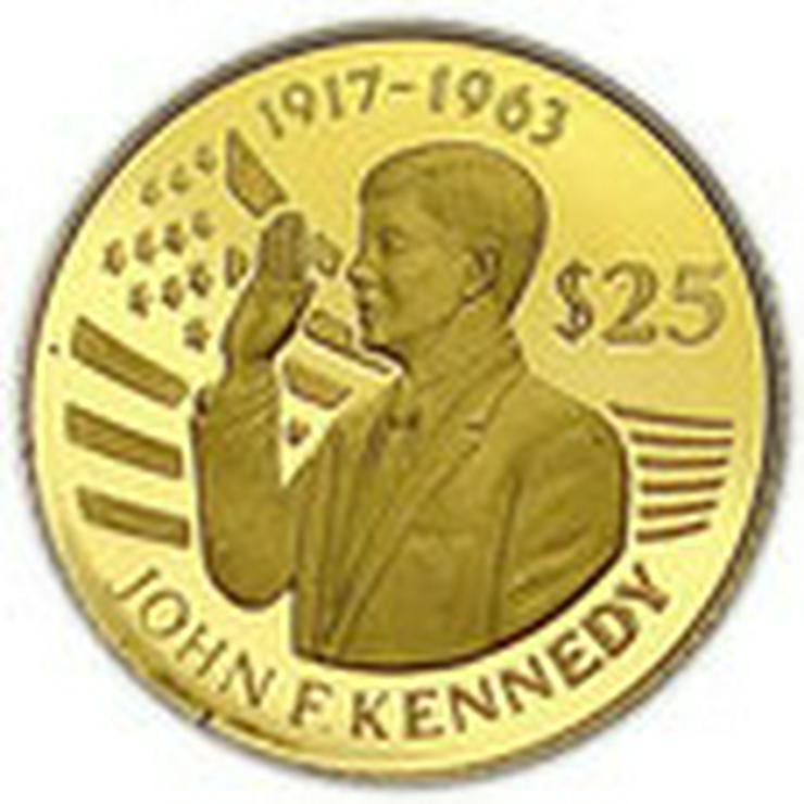 Niue 25 Dollar John F. Kennedy Gold Münze  - Münzen - Bild 1