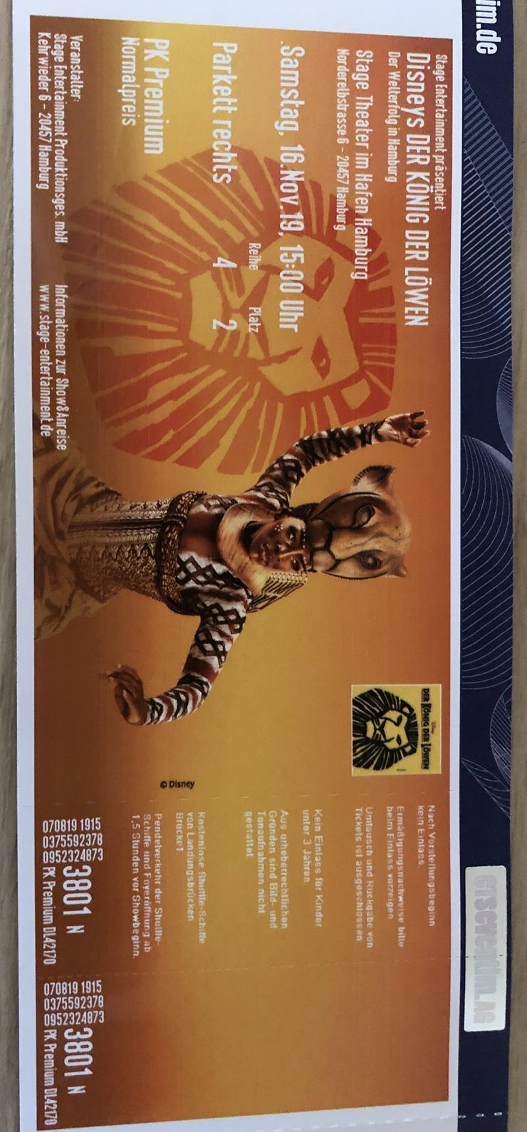 Disneys Der König der Löwen, Musical Hamburg, 5 Tickets, 16.11.19, 15 Uhr