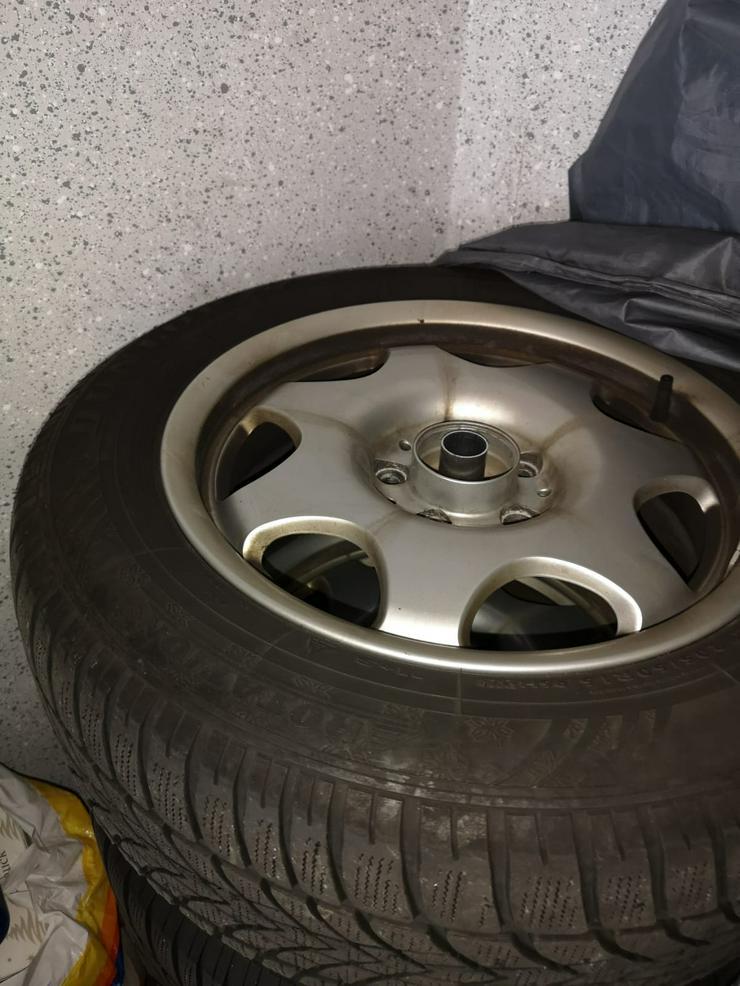 Komplettwintereifen und Allufelgen Dunlop 205-60-R16 96 H für Mercedes W 211,E 220 CDI - Winter Kompletträder - Bild 1