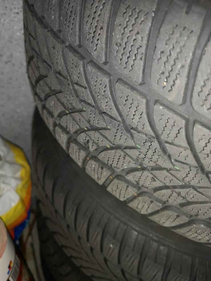 Bild 2: Komplettwintereifen und Allufelgen Dunlop 205-60-R16 96 H für Mercedes W 211,E 220 CDI