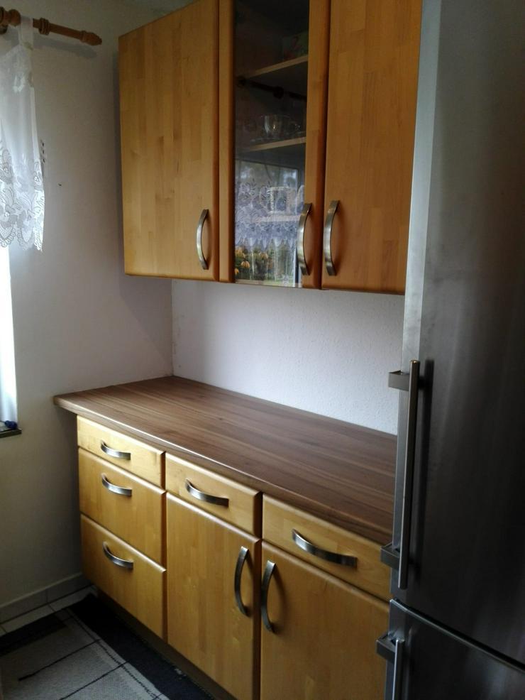 Einbauküche Erle Massiv inkl. Herd, Dunstabzug und Einbauspüle