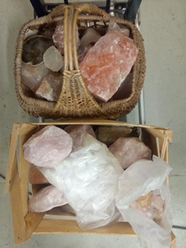 Rosenquarz und indische Trommelsteine - Edelsteine & Fossilien - Bild 1