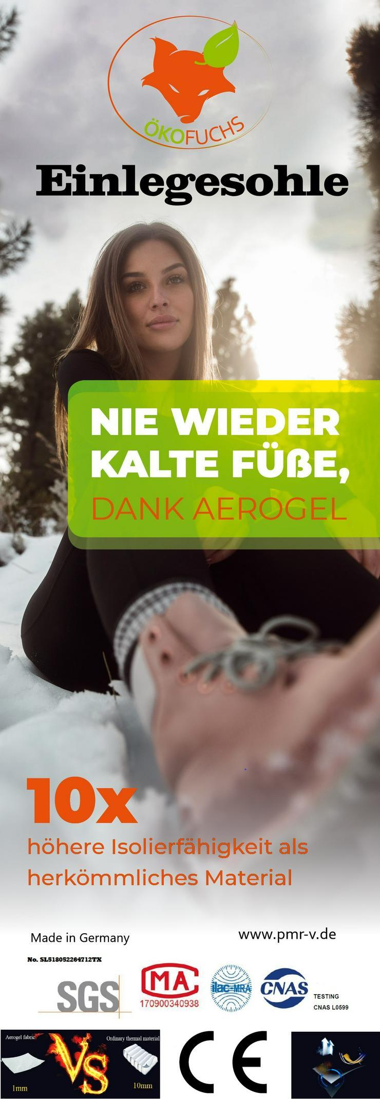"""Einlegesohle """"Nie wieder kalte Füße"""" 2 mm Aerogel - Schuheinlagen - Bild 1"""