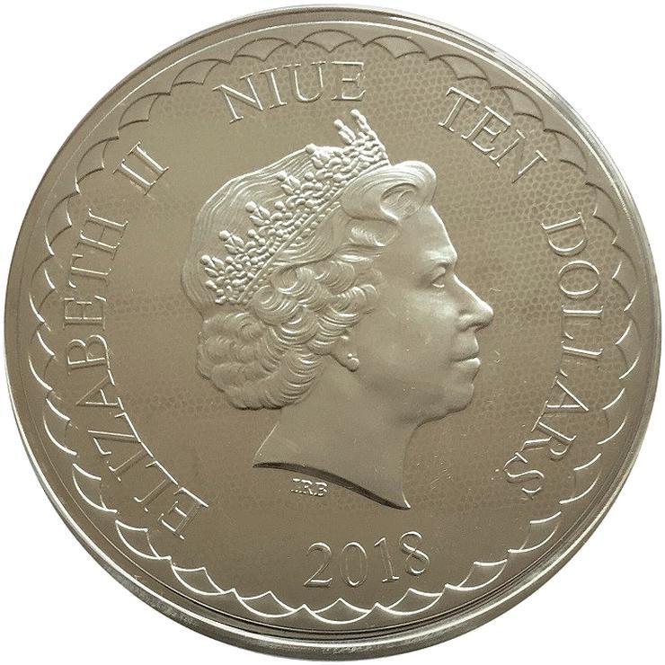Bild 2: Niue 10 Dollar Double Dragon  5 OZ Silber Münze