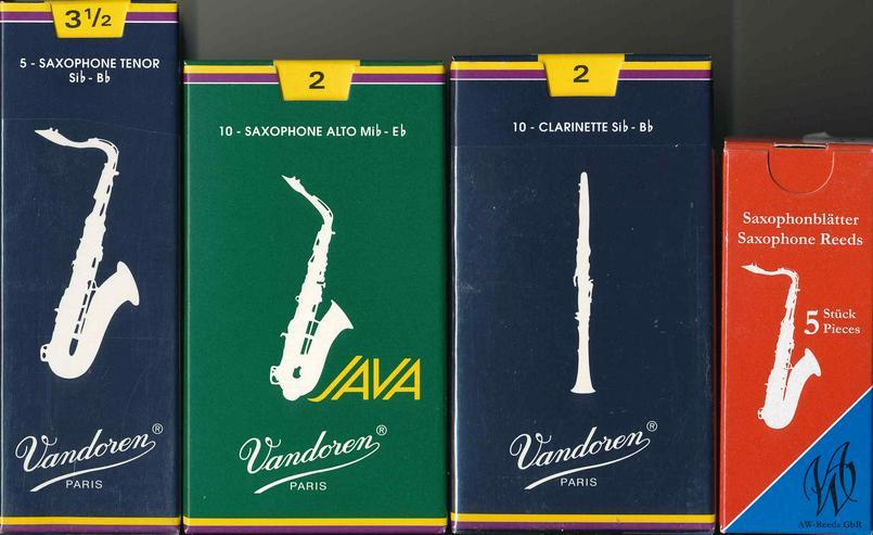 Blätter Reeds Mundstücke u. Zubehör für Klarinette und Saxophon - Blasinstrumente - Bild 1