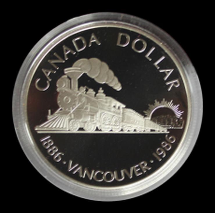 Kanada 1 Dollar Lokomotive Silber Münze