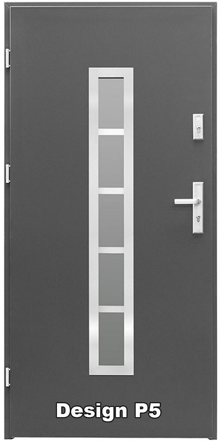 Bild 2: Tür Haustür P5/P6/P7/P8 Eingangstür Stahltür 80/90 ID Design 5 Farben weiß