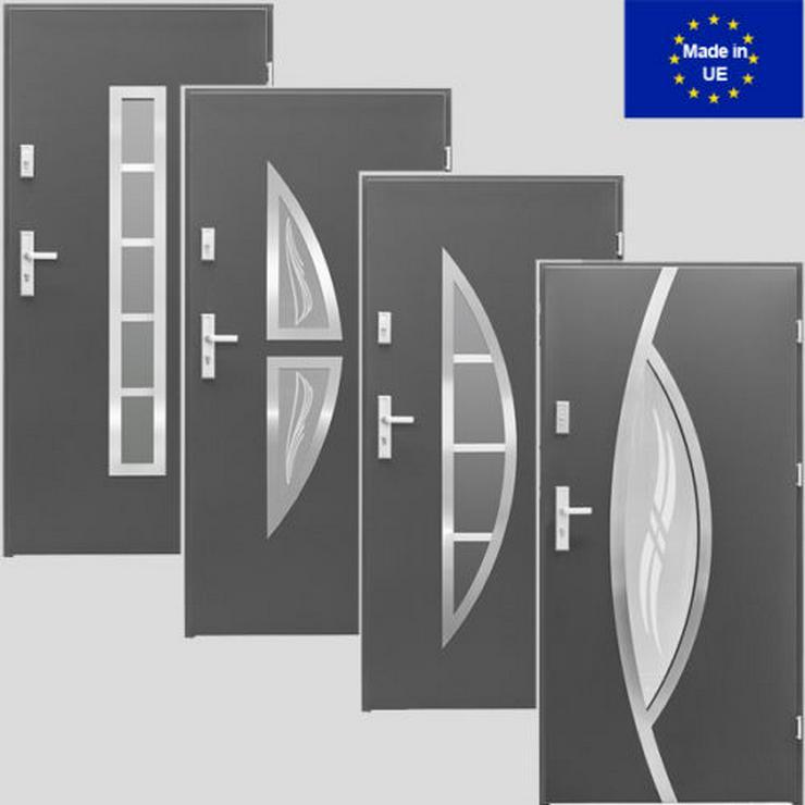 Tür Haustür P5/P6/P7/P8 Eingangstür Stahltür 80/90 ID Design 5 Farben weiß