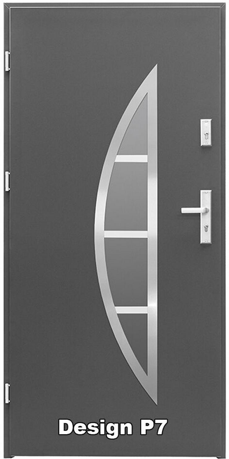 Bild 4: Tür Haustür P5/P6/P7/P8 Eingangstür Stahltür 80/90 ID Design 5 Farben weiß
