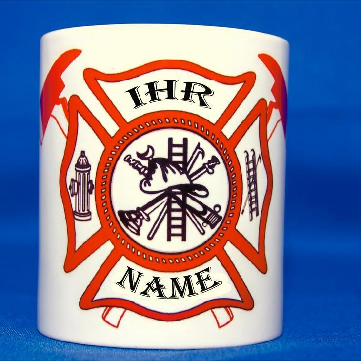 Tasse Feuerwehr  mit individuellem Namen  - Kaffeegeschirr & Teegeschirr - Bild 1