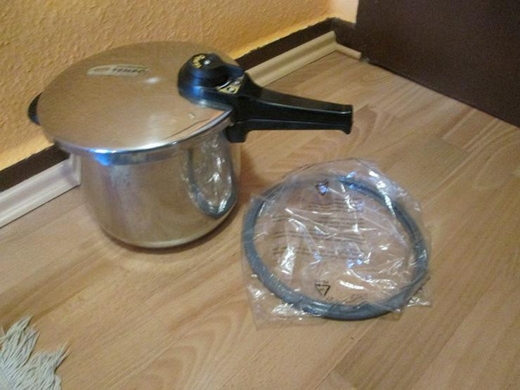 Schnellkochtopf Marke Tischfein-Tempo 6 Liter Edelstahl  22 cm Durchmesser