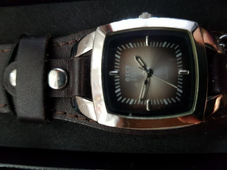 Bild 2: Schweizer Uhr Nagelneu in Schatulle.Braun!! OSCO !!siehe Bilder