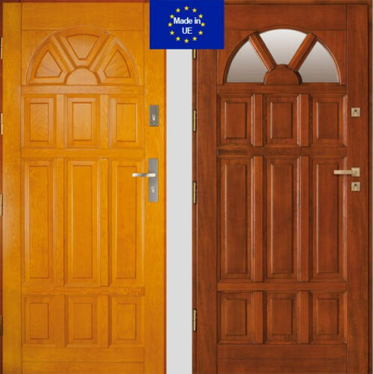Holzaußentüren DZ4/DZ41 Haustür Eingangstür Holztür 60/70/80/90/100 6 Farben