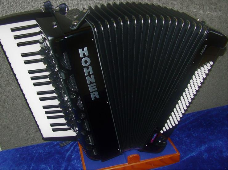 Hohner Akkordeon Amica IV 96 forte Silent Key m.HDS MIDI + Mikros