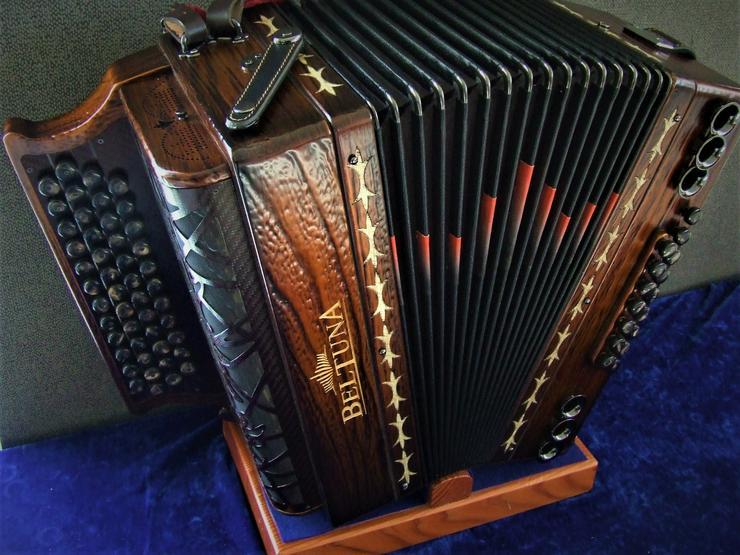 Sterische Harmonika Beltuna Alpstar IV D Exclus. Fly Kupfer Antik