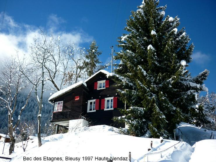 Walliser Alpen (CH); Chalet in Haute-Nendaz noch frei