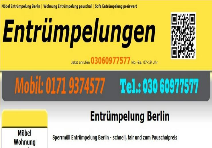 Sofort Entrümpelung 80 Euro in Berlin schnell sofort auch heute.