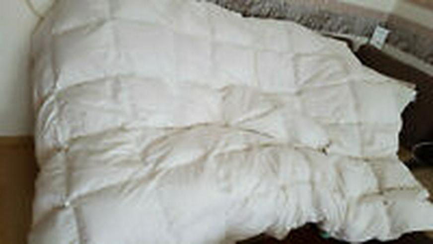 Daunenbettdecke,  155x220,  90% Daune 10% Federn,  48 Karos, neuwertig - Weitere - Bild 1