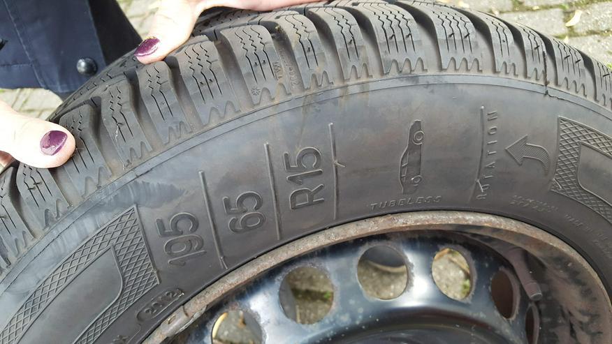 Bild 2: Kleber Winterreifen  195/65 R15 auf 5-Loch Stahlfelge, passend u.a. auf Renault Megane