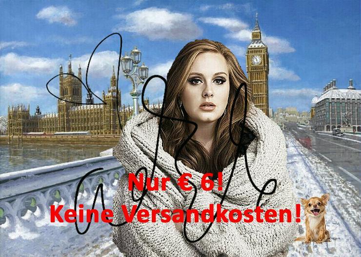 ADELE London Selfie Souvenir 6 Euro Geschenk Deko Wandbild Poster Design Starfoto Memorabilie Andenken Bild Dekoration Selfie Lifestyle