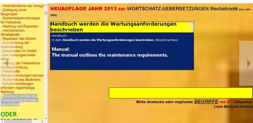 Bild 4: englisch Uebersetzung: Serviceanleitung Einbauerklärung Softwarehandbuch Wartungsvorschrift Bedienungsanleitung