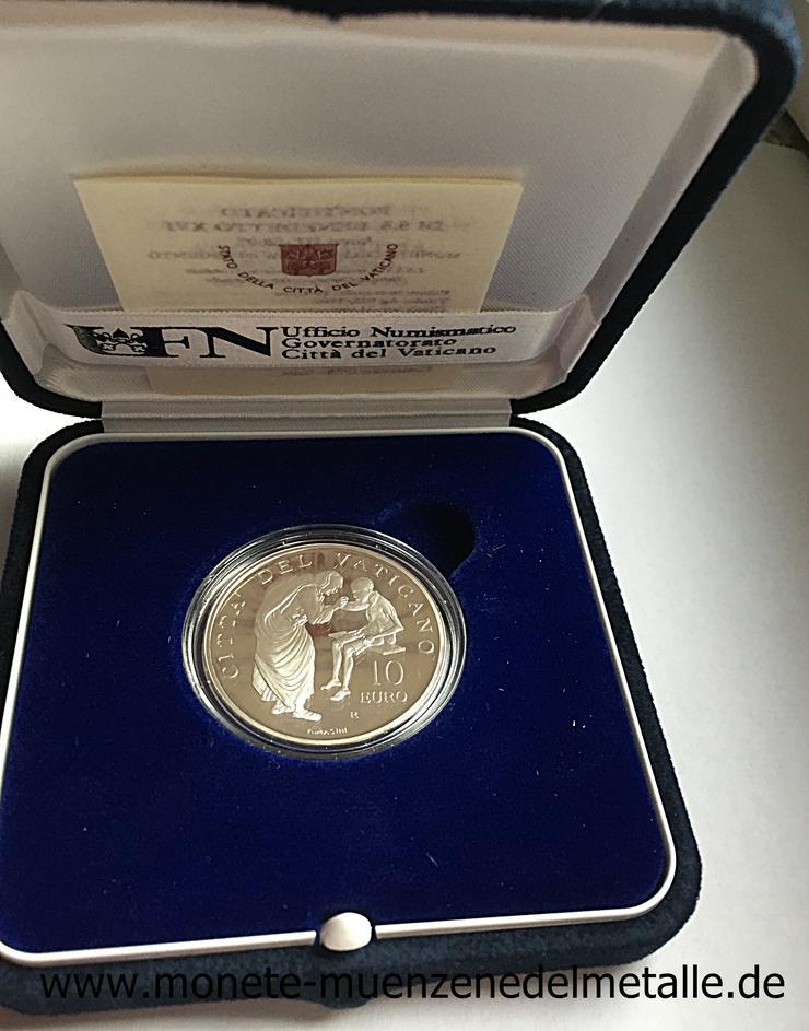 Vatikan 10 Euro Weltmessionstag 2007 Silber Münze